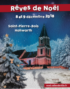 Affiche noël vallée de Villé 2018